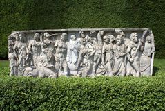 Garden sculpture in a box hedge Royalty Free Stock Image