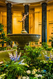 Garden and sculpture in the National Gallery of Art in Washingto Royalty Free Stock Images