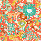 Garden seamless pattern Royalty Free Stock Image