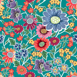 Garden seamless pattern Stock Photos