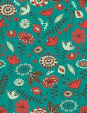 Garden in  seamless pattern Royalty Free Stock Photo