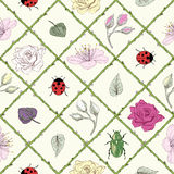 Garden seamless pattern Stock Photo