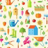 Garden Seamless Pattern Stock Photo