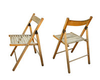 Garden seat chair in different views Royalty Free Stock Photos
