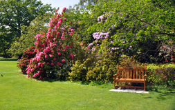 The garden seat Royalty Free Stock Images