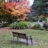 Garden Seat, Queenstown Gardens stock photos