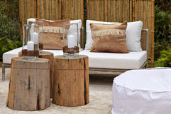 Garden seating area Royalty Free Stock Photo