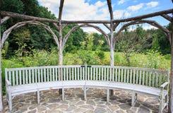 Garden Seating Stone Patio Royalty Free Stock Photo