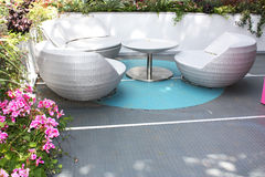Garden seats Stock Images