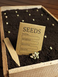 Garden seed bag with seeds Royalty Free Stock Photo