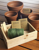Garden seed box Royalty Free Stock Photo