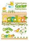 Garden set of elements for design Stock Photos