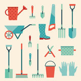 Garden set icons Stock Photo