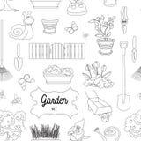 Garden set pattern Stock Images