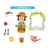 Garden set vector Royalty Free Stock Photography