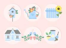 Garden set. Vector illustration Stock Photo