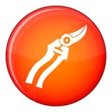 Garden shears icon, flat style Stock Photography