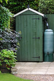 Garden Shed in an English Garden Royalty Free Stock Image