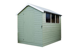 Garden Shed Green Wood Royalty Free Stock Image