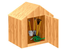 Garden shed. Isolated on a white background Stock Image