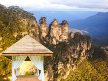 Garden shelter at Blue mountain Stock Photos