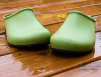 Garden shoes Royalty Free Stock Image