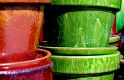 Garden shop pots. Pottery Stock Images