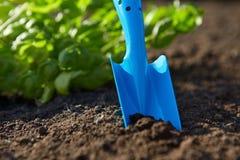 Garden shovel tucked Royalty Free Stock Photography