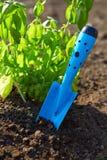 Garden shovel tucked Royalty Free Stock Image