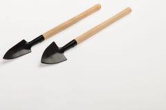 Garden shovel on a white background Stock Photo