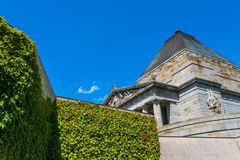 In the garden of Shrine of remembrance Royalty Free Stock Photos