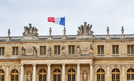 Garden side of Palais Versailles, Paris, France Royalty Free Stock Photo
