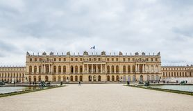 Garden side of Palais Versailles, Paris Royalty Free Stock Images