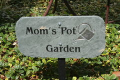 Garden Sign Royalty Free Stock Photography