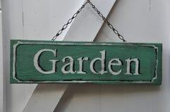 Garden sign  Stock Photos