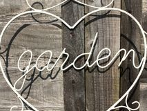Garden sign Royalty Free Stock Images