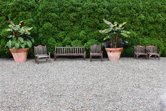 Garden Sitting Area Royalty Free Stock Photography