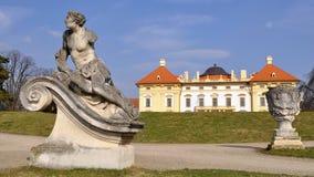 Garden of Slavkov castle Royalty Free Stock Images