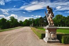 The garden in Slavkov Castle Royalty Free Stock Images