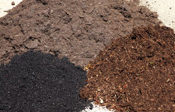 Garden soil type. Some differen type quality garden soil. The most important for plants grow is soil quality. For most popular plants growing used mix of this Royalty Free Stock Photography