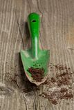 Garden spade with ground Royalty Free Stock Photography
