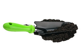 Garden spade in the ground Royalty Free Stock Images