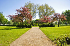 Garden in spring Stock Photo