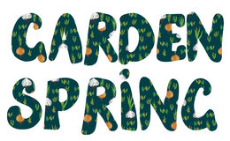 Garden and spring banners with plants Stock Images