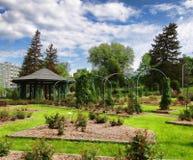Garden in spring. Formal rose garden in spring Royalty Free Stock Photography