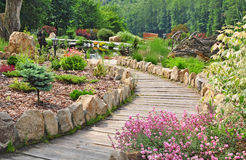 Garden path, spring nature Stock Photo