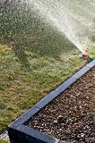 Garden sprinkler detailed background image Royalty Free Stock Images