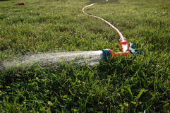 Garden sprinkler on the lawn Royalty Free Stock Photos