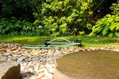 Garden sprinkler Royalty Free Stock Images