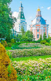 The garden of St Sergius Trinity Lavra Royalty Free Stock Images